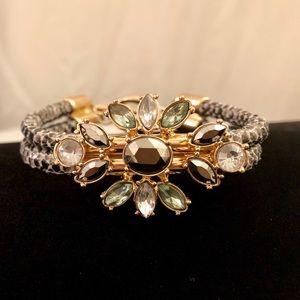 Banana Republic snakeskin gemstone BLING! bracelet